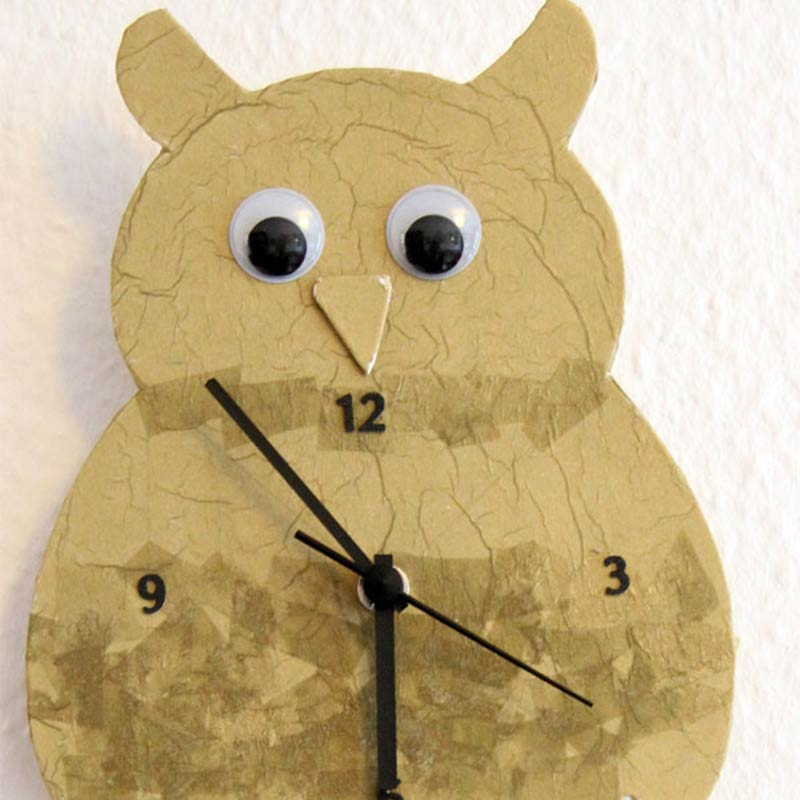 Do it yourself: Eulen-Uhr basteln