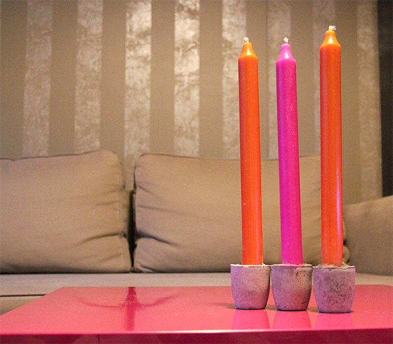 DIY: Kerzenständer