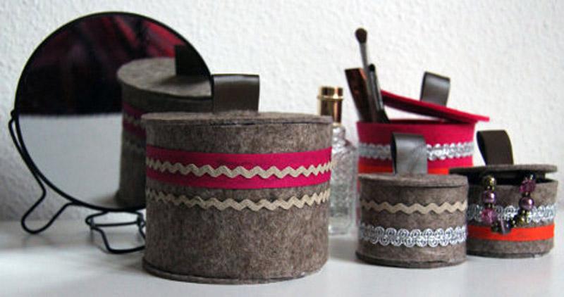 diy filzbox mit deckel. Black Bedroom Furniture Sets. Home Design Ideas