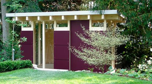 gartenhaus wohnflair im gr nen. Black Bedroom Furniture Sets. Home Design Ideas