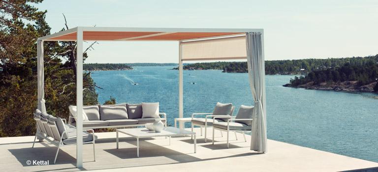 Wohnzimmer und Kamin ideen zur gartengestaltung mit strandkorb : Gartenmu00f6bel