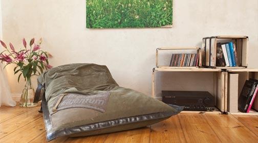 sitzsack - der neue lieblingsplatz, Wohnzimmer